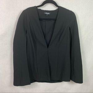 Missguided Cape Blazer Black Size 8 Overcoat